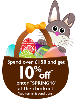 Cracking Prices - Spend over £150 in a single transaction and get 10% off* - Enter code SPRING18 at the checkout