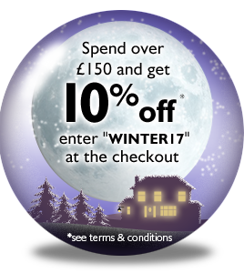 Winter Wonderland - Spend over £150 in a single transaction and get 10% off* - Enter code WINTER17 at the checkout
