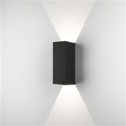 Astro 7989 Oslo Exterior LED Wall Light in Black finish.