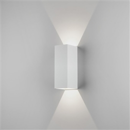 Astro 7991 Oslo Exterior LED Wall Light in White finish.