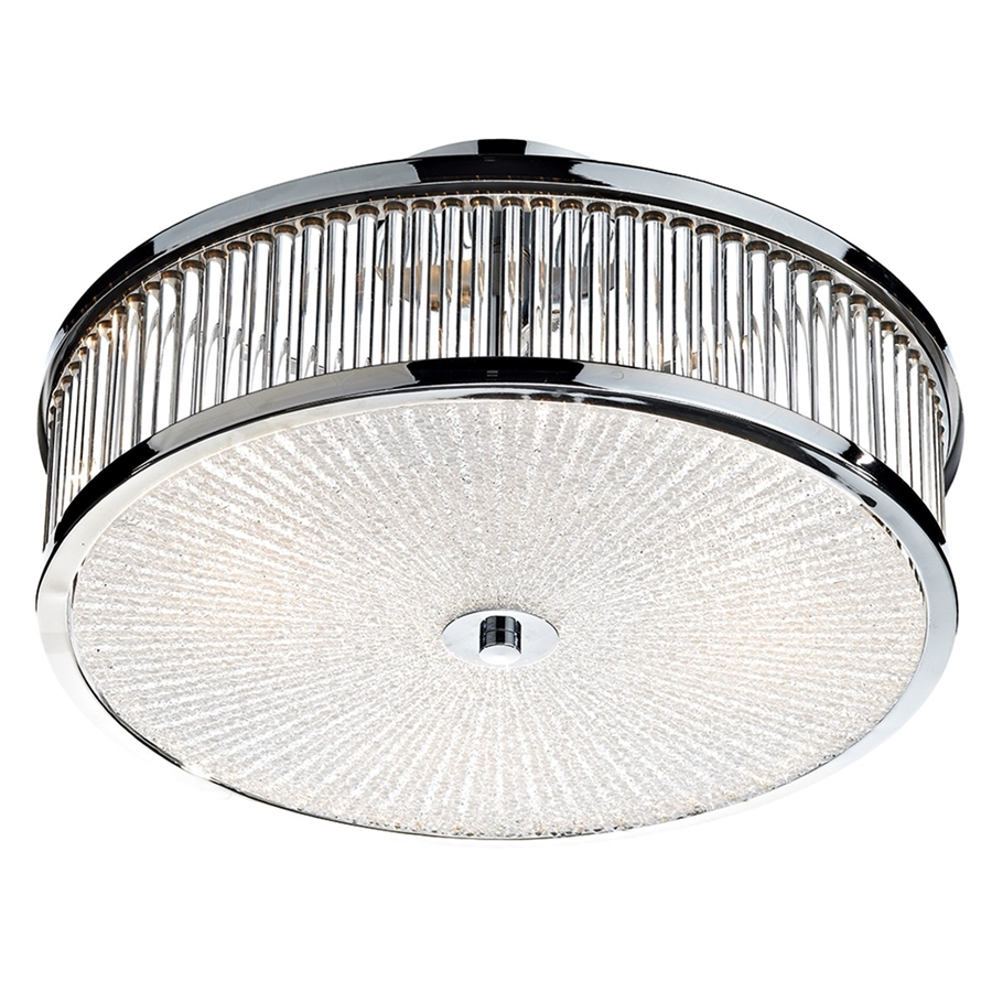Dar lighting ara5250 aramis 3 light flush fitting with for Decorative diffuser