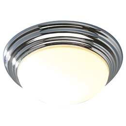 Dar BAR5250 Barclay 1 Light Polished Chrome Small Flush Light.