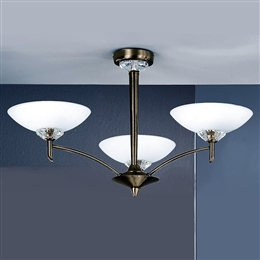 Franklite FL2010/3 Fizz 3 Light Ceiling fitting in Bronze finish.