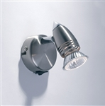 Dar GEM0746S Gemini 1 Light Satin Chrome Switched Spotlight WL5813
