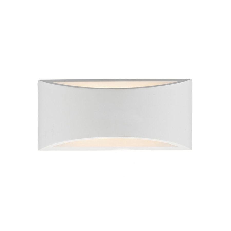 Large Plaster Wall Lights : DAR Lighting HOV372 Hove White Plaster 2 Light Large Wall Light.
