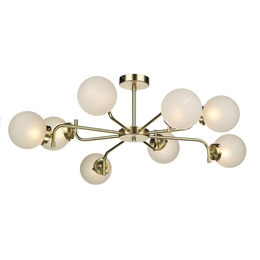 David Hunt JAZ0840 Jazz 8 Light Ceiling Pendant in Polished brass finish