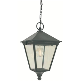 Elstead Norlys T8 Turin Black Chain Hanging Lantern .WP1327B