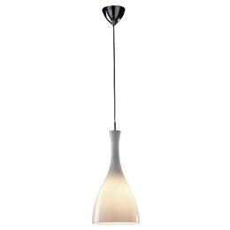 DAR TON862 Tone Opal Glass Pendant With  Chrome Suspension