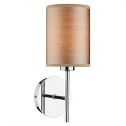 Dar Lighting TUS0750 Tuscan Polished Chrome Wall Light