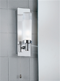 Franklite WB533 Single Bathroom Wall Light In Polished Chrome