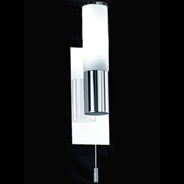 Franklite WB932 Single Bathroom Wall Light In Chrome Finish
