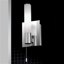 Franklite WB981 Bathroom Wall Light In Polished Chrome Finish