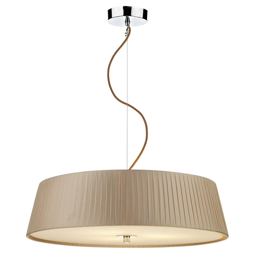 A Modern Ceiling Pendant Light Featuring Taupe Wrapped
