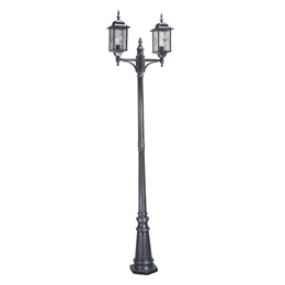 Elstead WX8 Wexford 2 Light Black/Silver Lamp-Post. WP1620