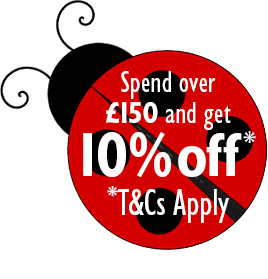 Spend over £150 in a single transaction and get 10% off* Enter code SUMMER19 at the checkout