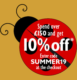 Summer Sizzler - Spend over £150 in a single transaction and get 10% off* - Enter code SUMMER19 at the checkout