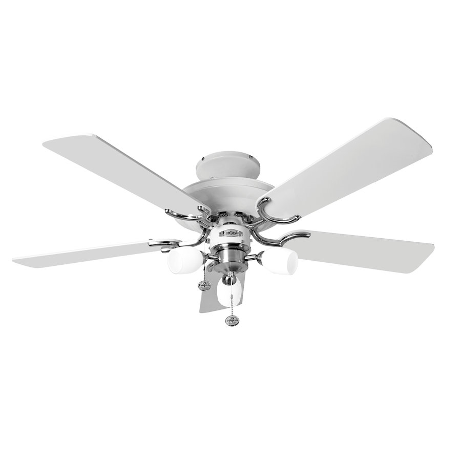 Fantasia Mayfair Ceiling Fan 42 Inch Stainless Steel With
