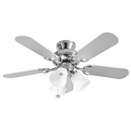 Fantasia Capri Ceiling Fan 110187 36 inch Stainless Steel Capri Combi Ceiling Fan