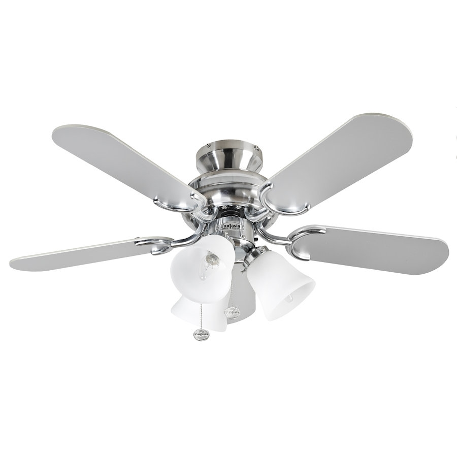 Capri ceiling fan 110187 36 inch stainless steel capri combi ceiling fan alternative views aloadofball Image collections