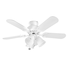 Fantasia Ceiling Fans 110194 36inch Capri Combi White Ceiling Fan with Light.