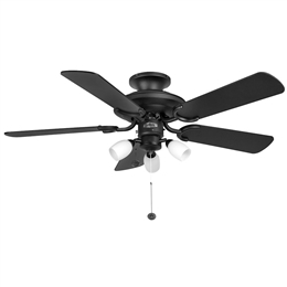 Fantasia Mayfair Ceiling Fan 42 inch Black with Light 110996