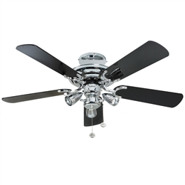 Fantasia Mayfair Ceiling Fan 42 inch Chrome with Light 111757