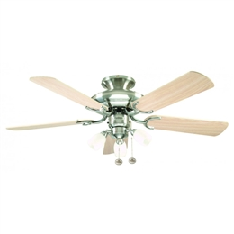 Fantasia Mayfair Ceiling Fan 42 inch Stainless Steel with Light 111818.