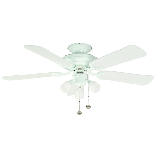 Fantasia Mayfair Ceiling Fan 42 Inch White With Light 111825