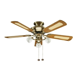 Fantasia Mayfair Ceiling Fan 42 inch Antique Brass with Light 111962