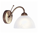 Searchlight 1131-1AB Milanese 1 Light Antique Brass Wall light