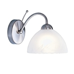 Searchlight 1131-1SS Milanese 1 Light Satin Silver Wall light