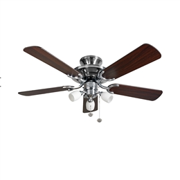 Fantasia Mayfair Ceiling Fan 42 inch Stainless Steel with Light 115496