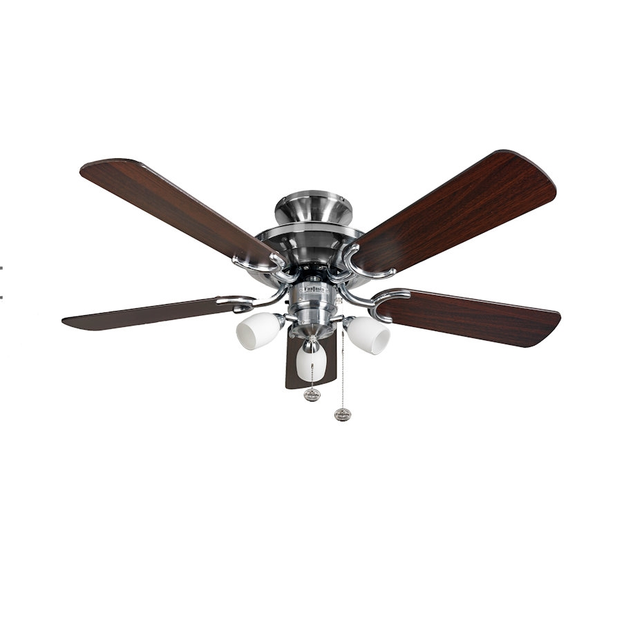 Ceiling Fan 42 High Quality With Light: Fantasia Mayfair Ceiling Fan 42 Inch Stainless Steel With