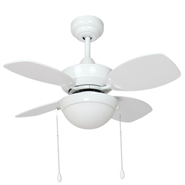 Fantasia Kompact Ceiling Fan 28 inch White with LED Light 115540