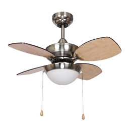 Fantasia Kompact Ceiling Fan 28 inch Brushed Nickel with LED Light 115557