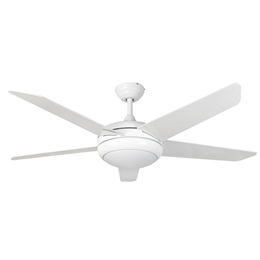 Euro Fans Neptune Ceiling Fan 54 inch White with LED Light 115847