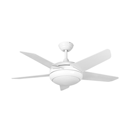 Euro Fans Neptune Ceiling Fan 44 inch White with LED Light 115861