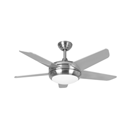 Euro Fans Neptune Ceiling Fan 44 inch Brushed Nickel with LED Light 115878