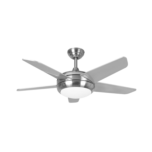Euro Fans Neptune Ceiling Fan 44 Inch Brushed Nickel With