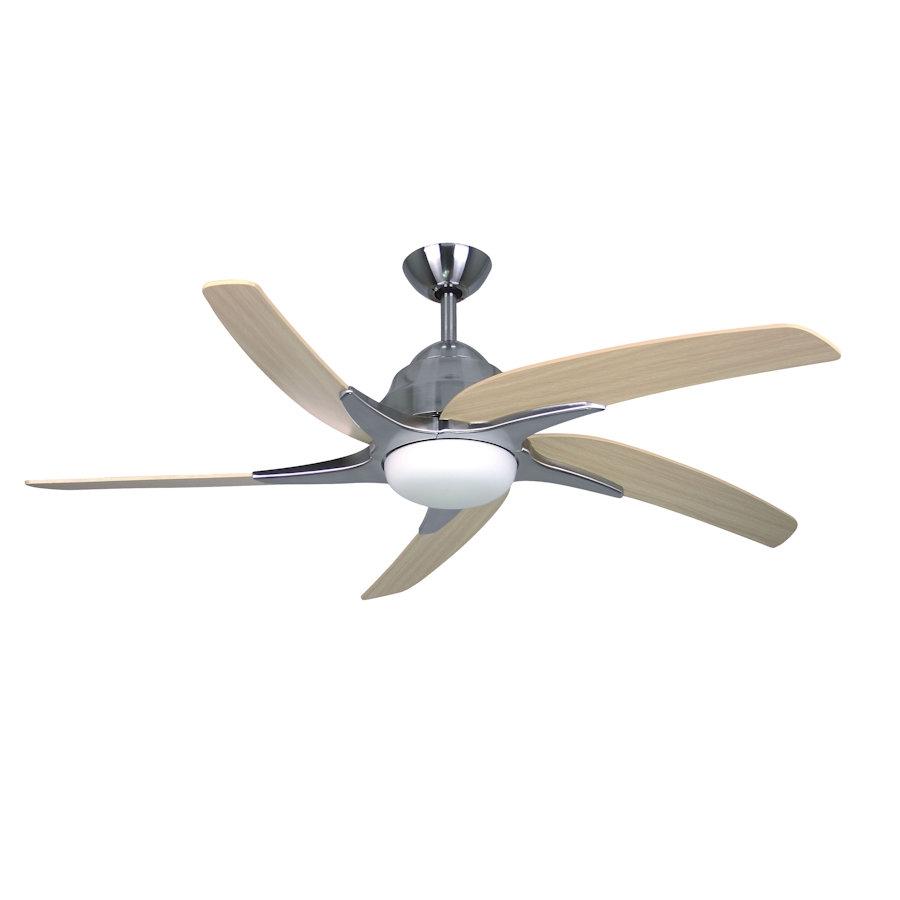 Fantasia Viper Plus Ceiling Fan 44 Inch Stainless Steel