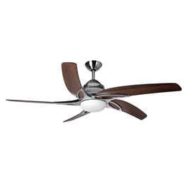 Fantasia Viper Plus Ceiling Fan 44 inch Stainless Steel with LED Light 116042.