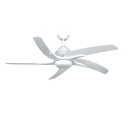 Fantasia Viper Plus Ceiling Fan 54 inch White with LED Light 116066.