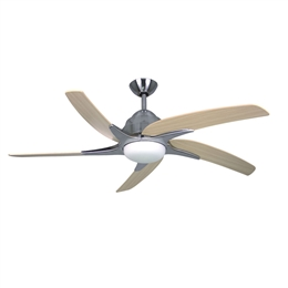 Fantasia Viper Plus Ceiling Fan 54 inch Stainless Steel with LED Light 116080.