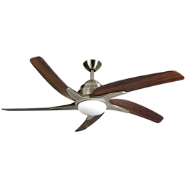 Fantasia Viper Plus Ceiling Fan 54 inch Antique Brass with LED Light 116097.
