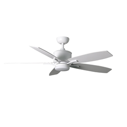 Fantasia Prima Ceiling Fan 52 inch Matt White with LED Light 117162