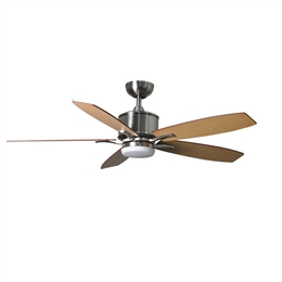 Fantasia Prima Ceiling Fan 52 inch Brushed Nickel with LED Light 117179