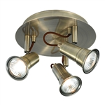 Searchlight 1223AB Eros 3 Light Antique Brass Plate Spotlight