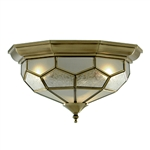 Searchlight 1243-12 Antique Brass Flush Fitting