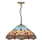 Searchlight 1283-16 Dragonfly 3 Light Tiffany Pendant fitting