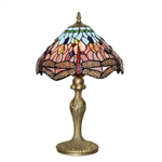 Searchlight 1287 Dragonfly 1 Light Tiffany Table Lamp